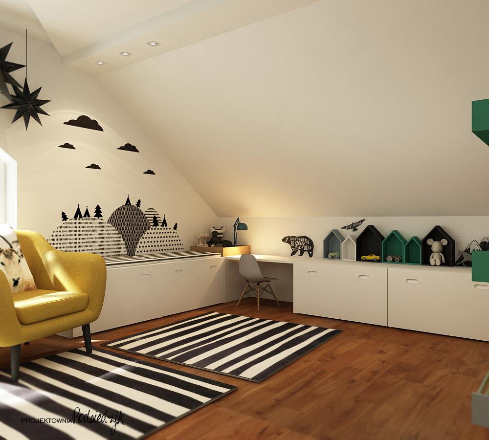 Projektant wnętrz Starokrzepice Kluczbork - projekt pokoju dla chłopca dwa lata