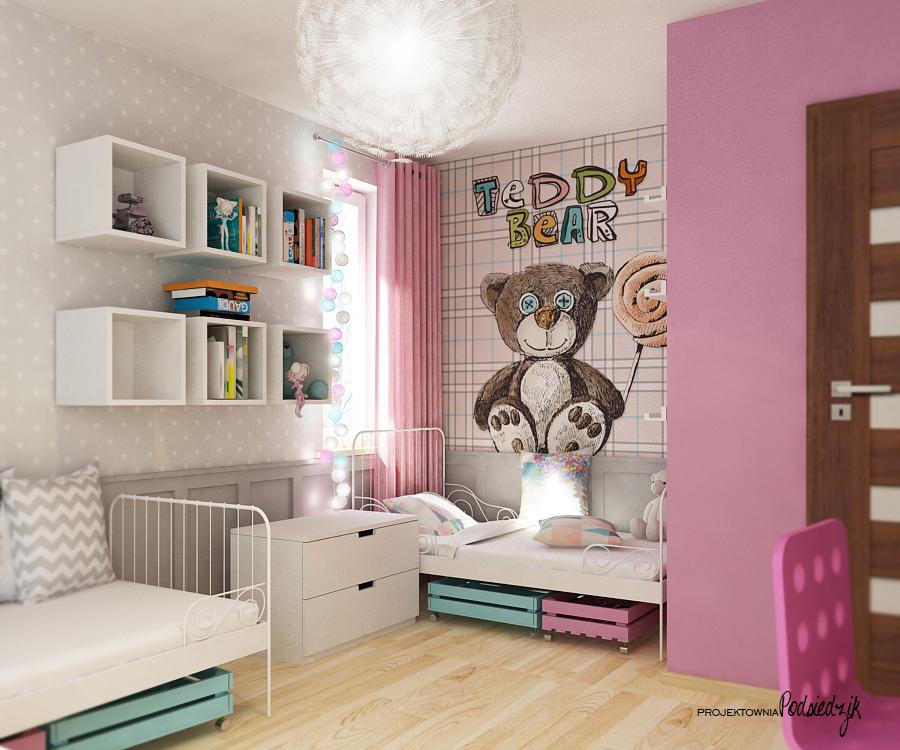 Projekty pokoi dla dziewczynek Kluczbork Olesno Opolskie - pokój dla dziewczynki projekt