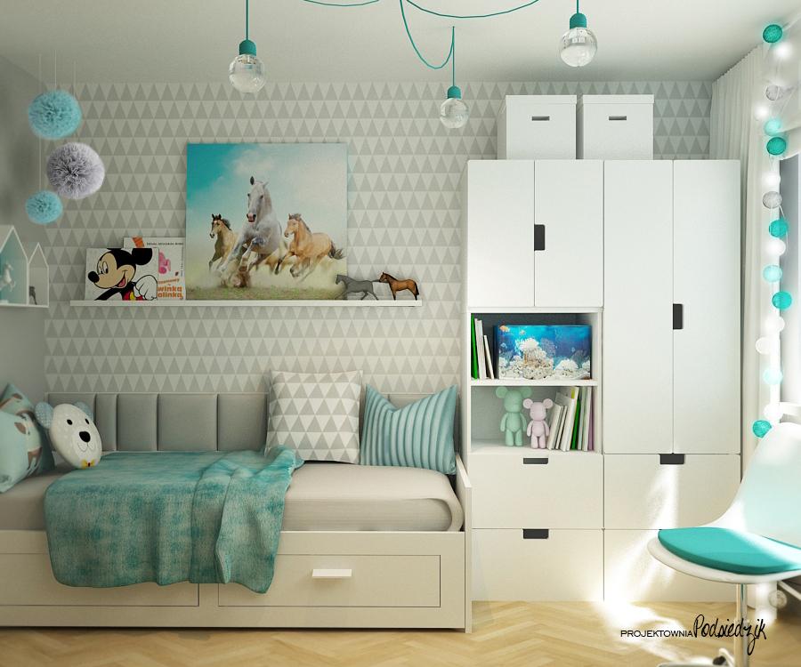 Projektowanie pokoi dla dziewczynek Kluczbork Olesno Opolskie - pokój dla dziewczynki projekt