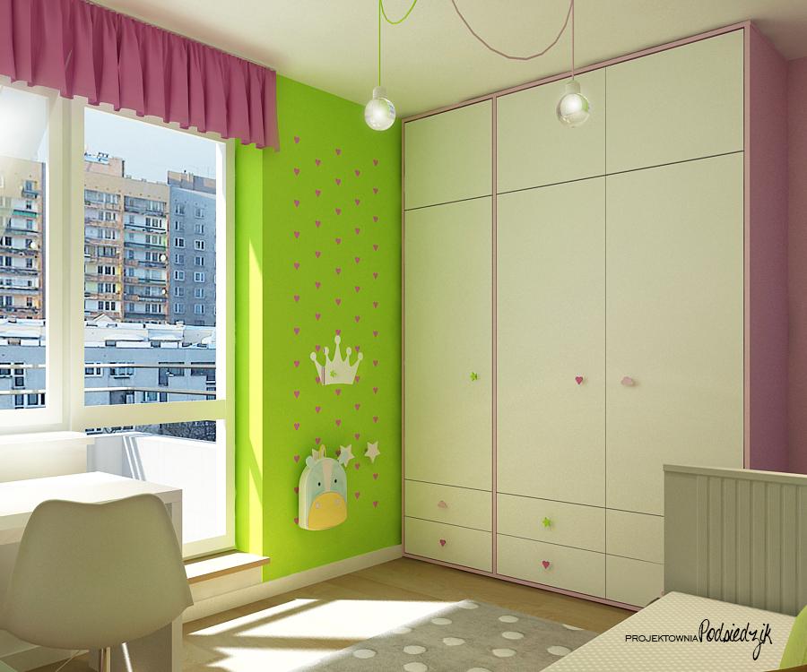 Projekty pokoi dziecięcych Kluczbork Olesno Opolskie - pokój dziecięcy projektdla dziewczynki projekt