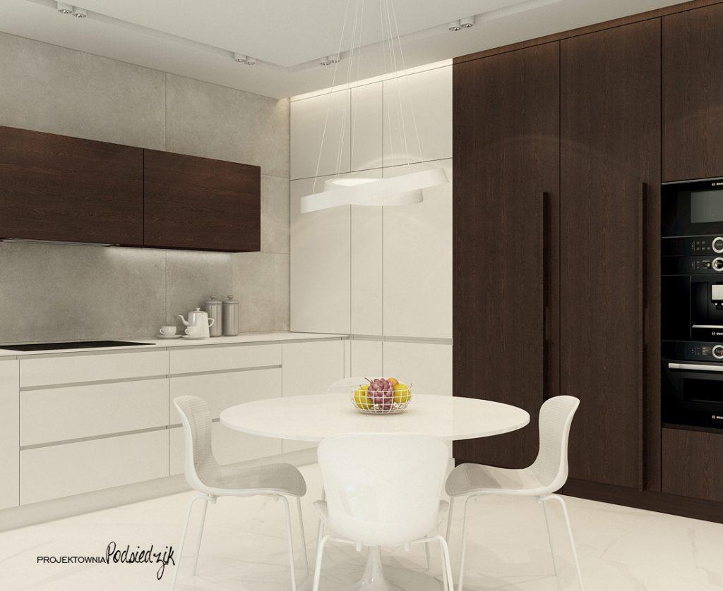 Architekt wnętrz - projekt domu kuchni w nowoczesnym stylu Olesno