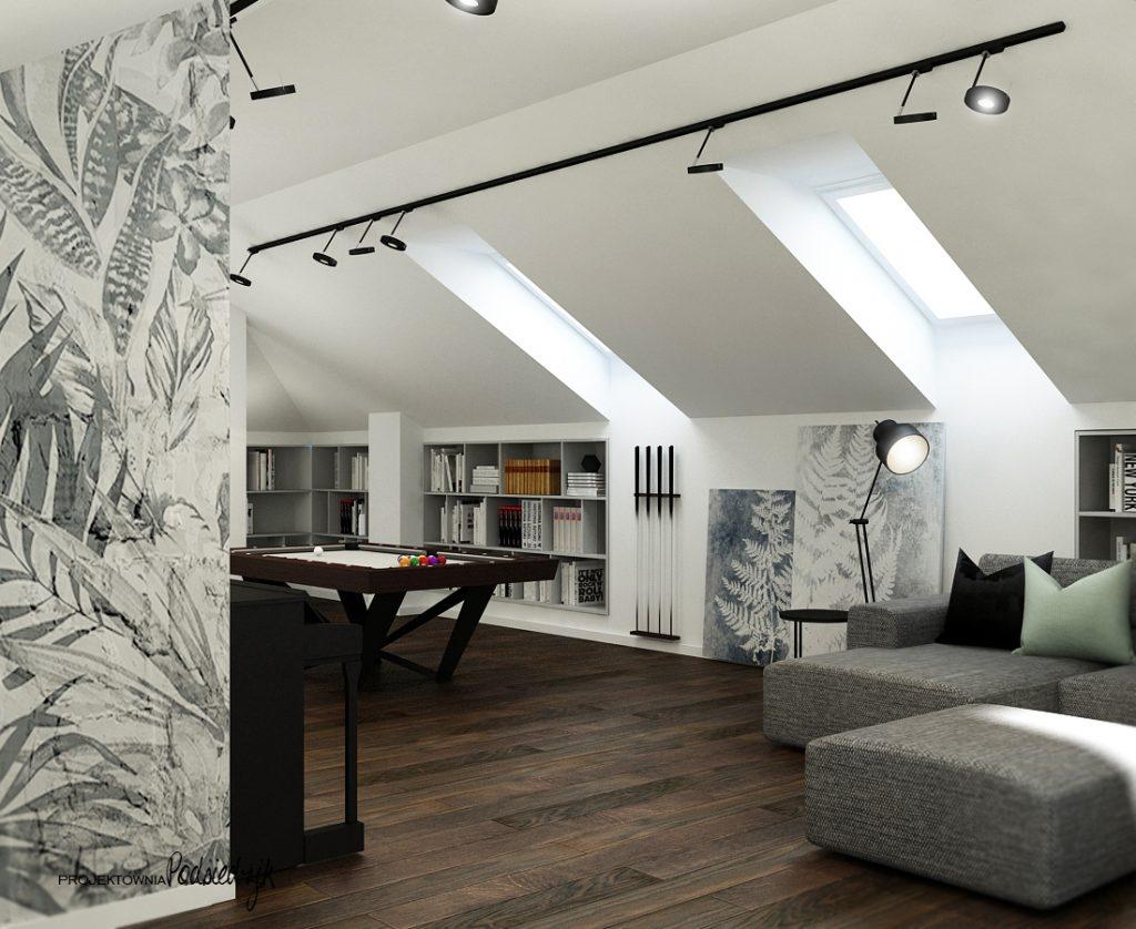 Pokój do wypoczynku poddasze Olesno - projektowanie wnętrz pokoi Olesno Kluczbork Opolskie