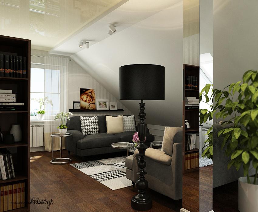 Projekt pokoju gościnnego w domu jednorodzinnym - Olesno, Opolskie