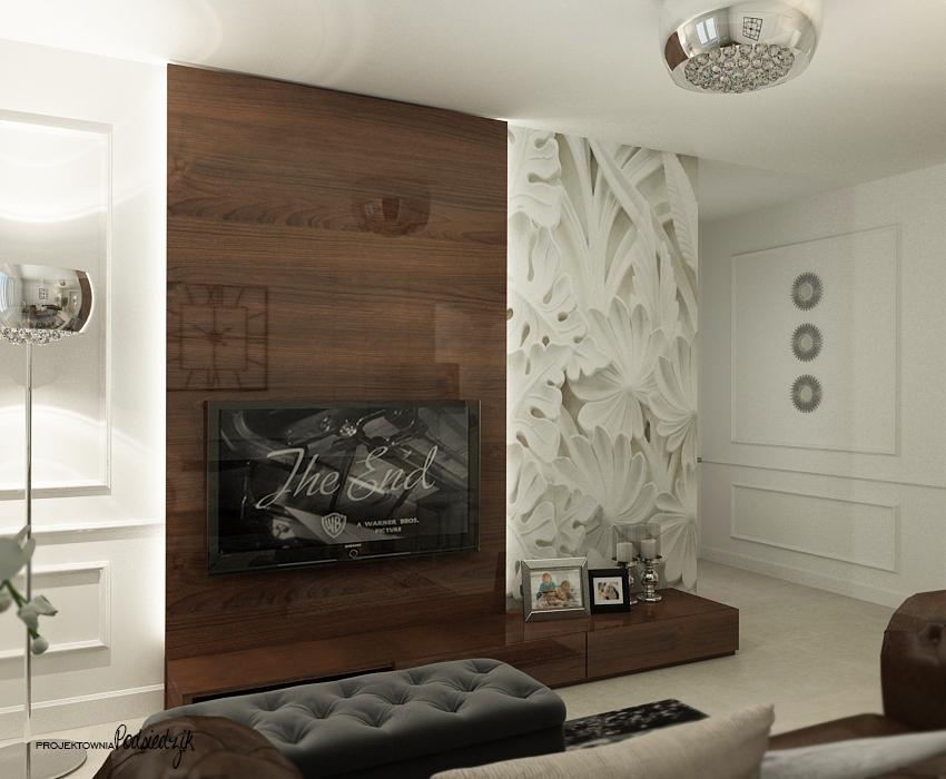 Projekt pokoju telewizyjnego w domu jednorodzinnym - Olesno, Opolskie