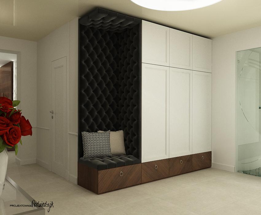 Projekt przedpokoju w domu jednorodzinnym - Olesno, Opolskie