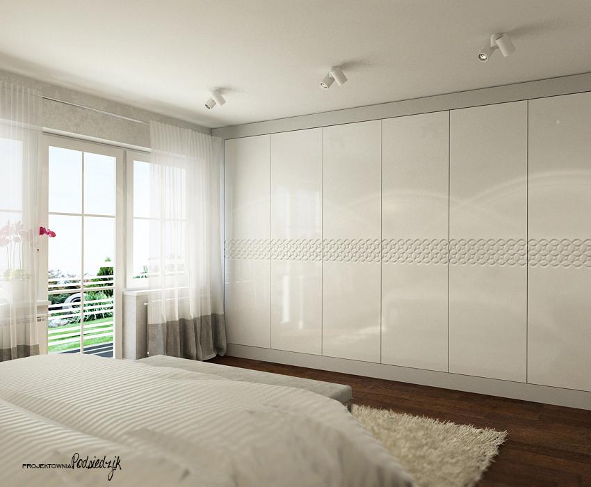 Projekt sypialni na poddaszu w domu jednorodzinnym - Olesno, Opolskie