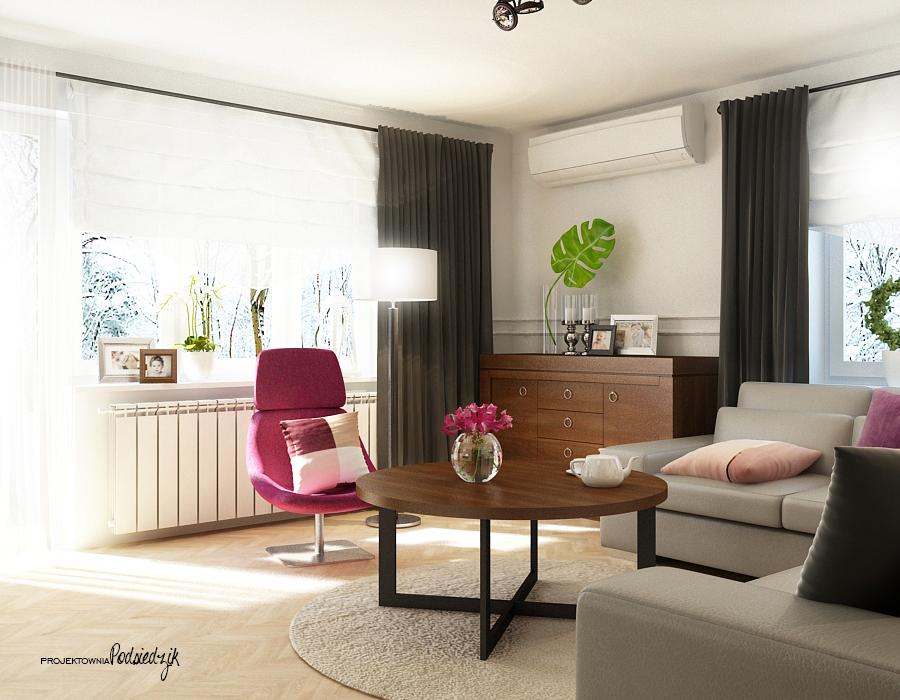 Projekt wnętrza domu salonu - architekt wnętrz Kluczbork Olesno Opolskie