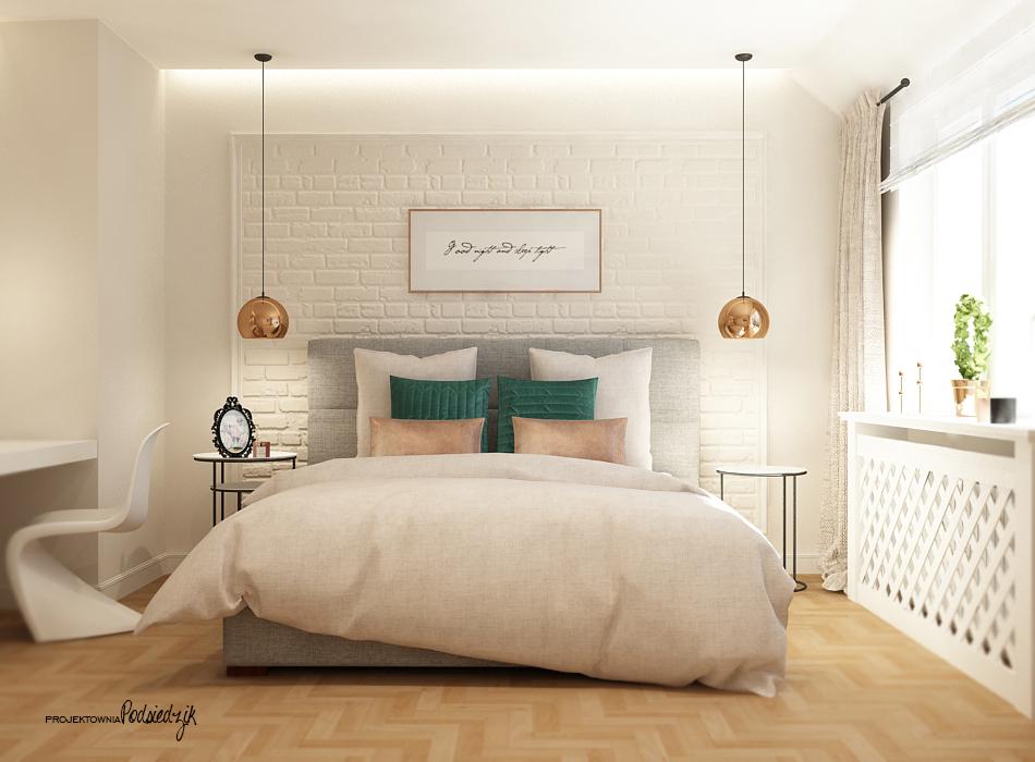 Projekt wnętrza domu sypialni - projektowanie wnętrz Kluczbork Olesno Opolskie