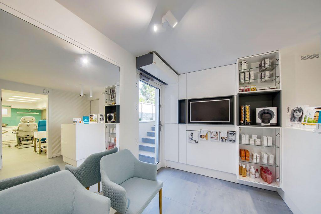 Projekt wnętrza gabinetu medycyny estetycznej IMEIAA - projektowanie wnętrz użyteczności publicznej Kluczbork Olesno Opolskie