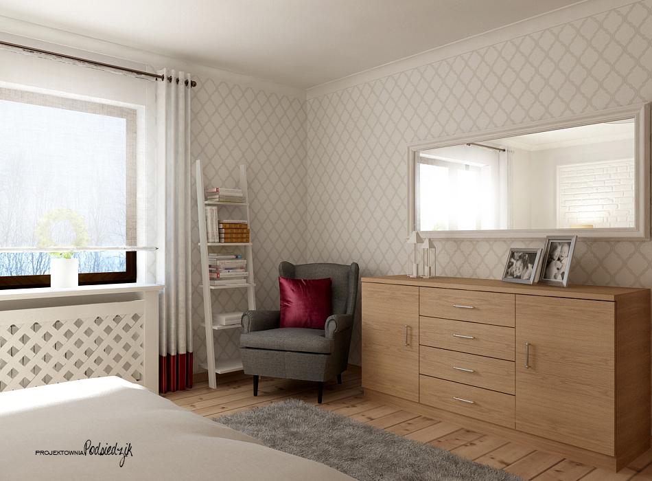Projekt wnętrza sypialni - projekty wnętrz Olesno