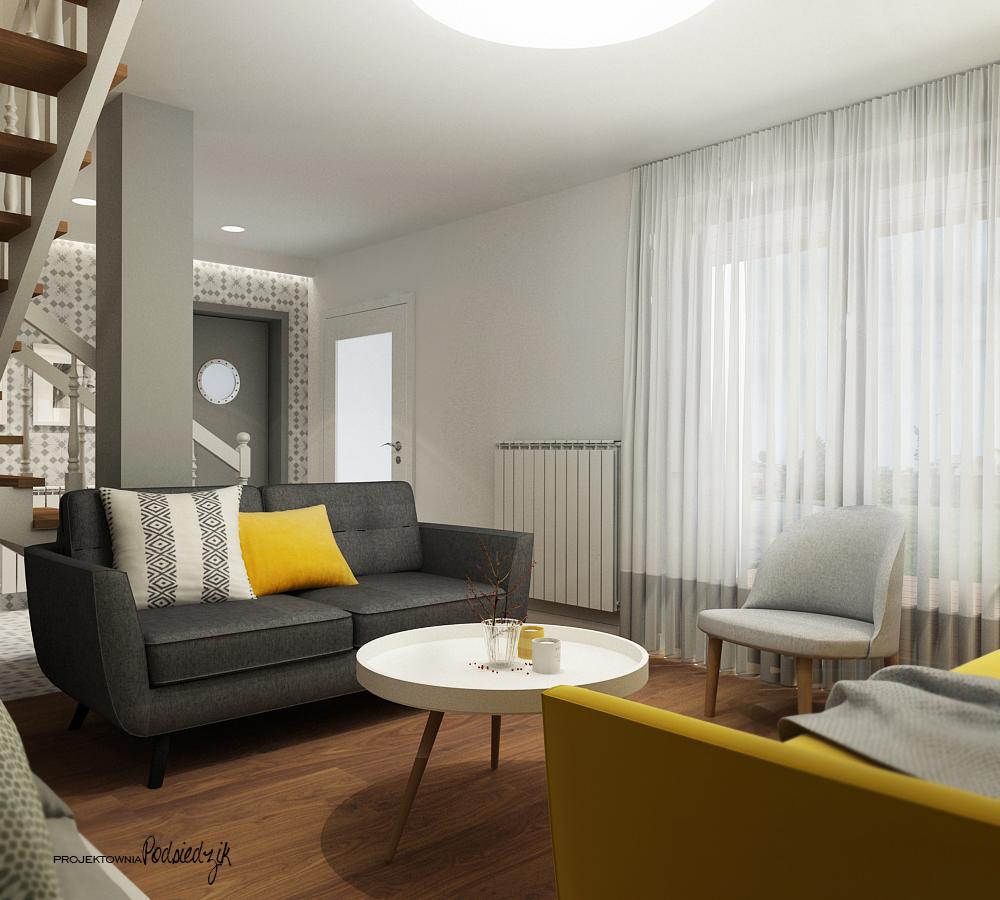 Projektowanie wnętrz Kluczbork Olesno Opolskie - Projektowanie wnętrz projekt salonu