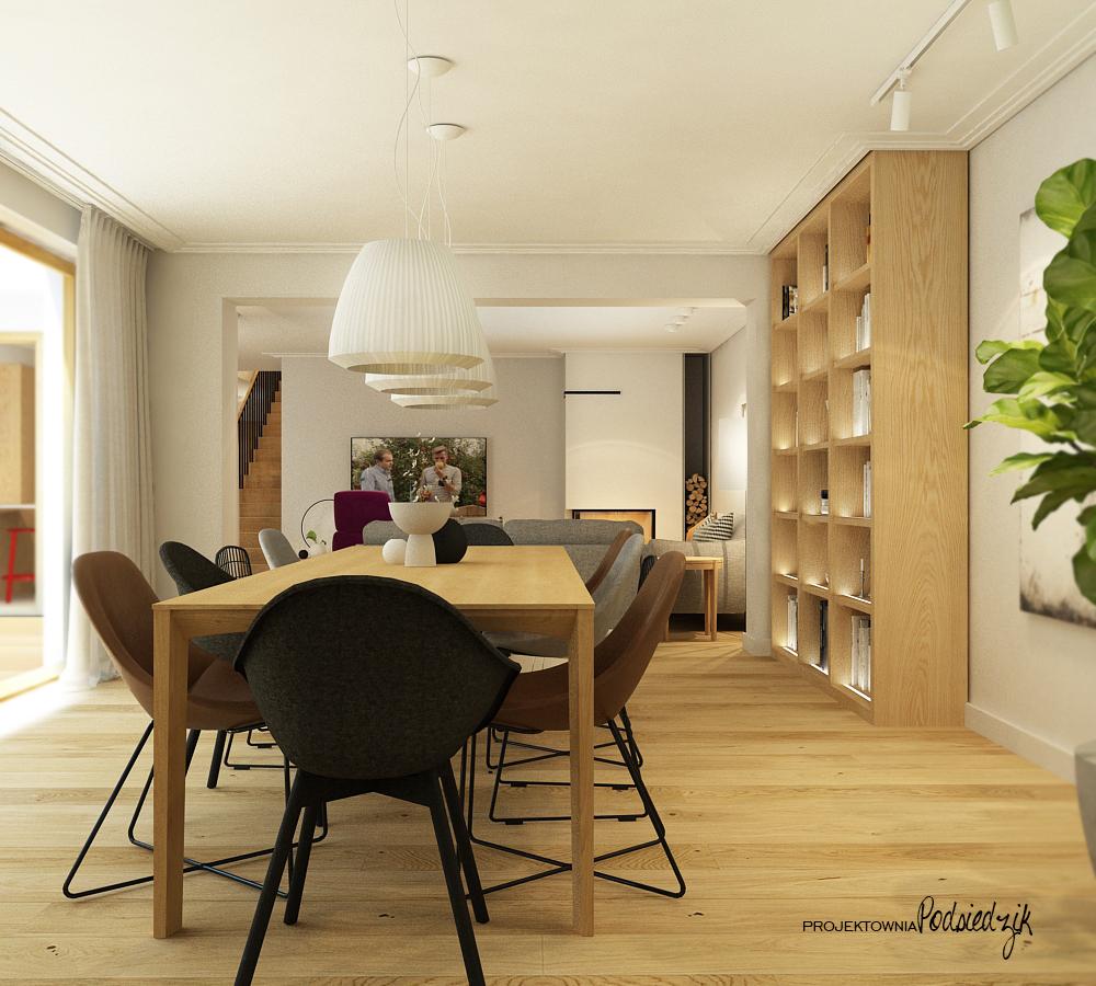 Projekt wnętrza domu jadalni - projekty wnętrz pokoi Krzepice, Kluczbork