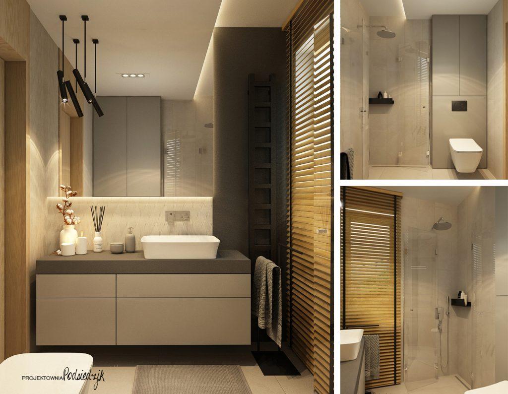 Projekt wnętrza domu łazienki - projekty wnętrz łazienek Krzepice, Kluczbork