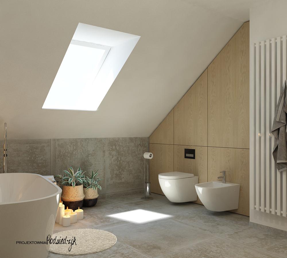 Projekt wnętrza domu łazienki z wanną wolnostojącą - projekty wnętrz łazienek Krzepice, Kluczbork