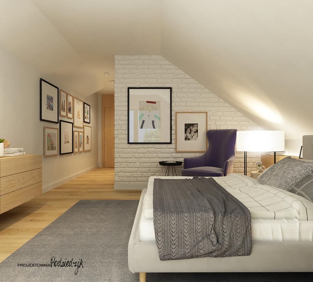 Projekt wnętrza domu sypialni - Projekty wnętrz Krzepice Kluczbork