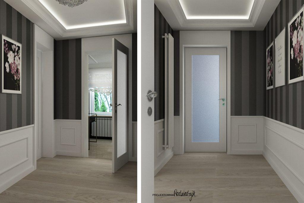 Projektant wnętrz Kluczbork Olesno Opolskie - projekt wnętrza klatki schodowej