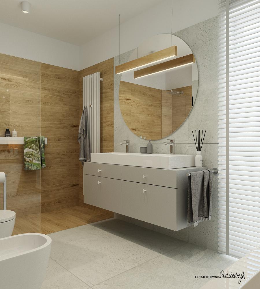 Projektownia Podsiedzik projektant wnętrz łazienka Olesno