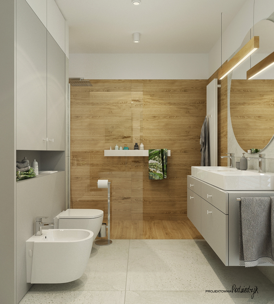 Projektownia Podsiedzik projektowanie wnętrz łazienka Olesno