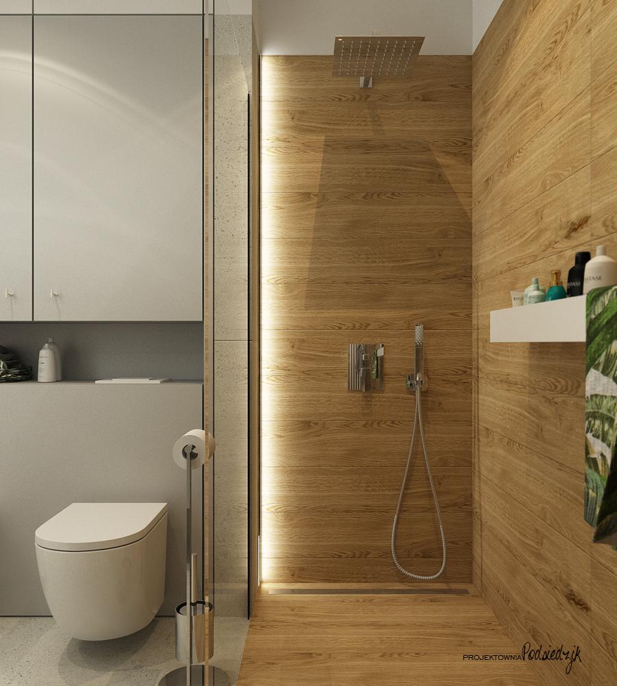 Projektownia Podsiedzik projektant wnętrz łazienka z wanną wolnostojacą Olesno