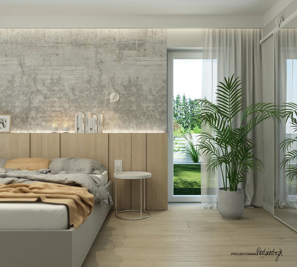 Projektownia Podsiedzik projekty wnętrz sypialni Olesno