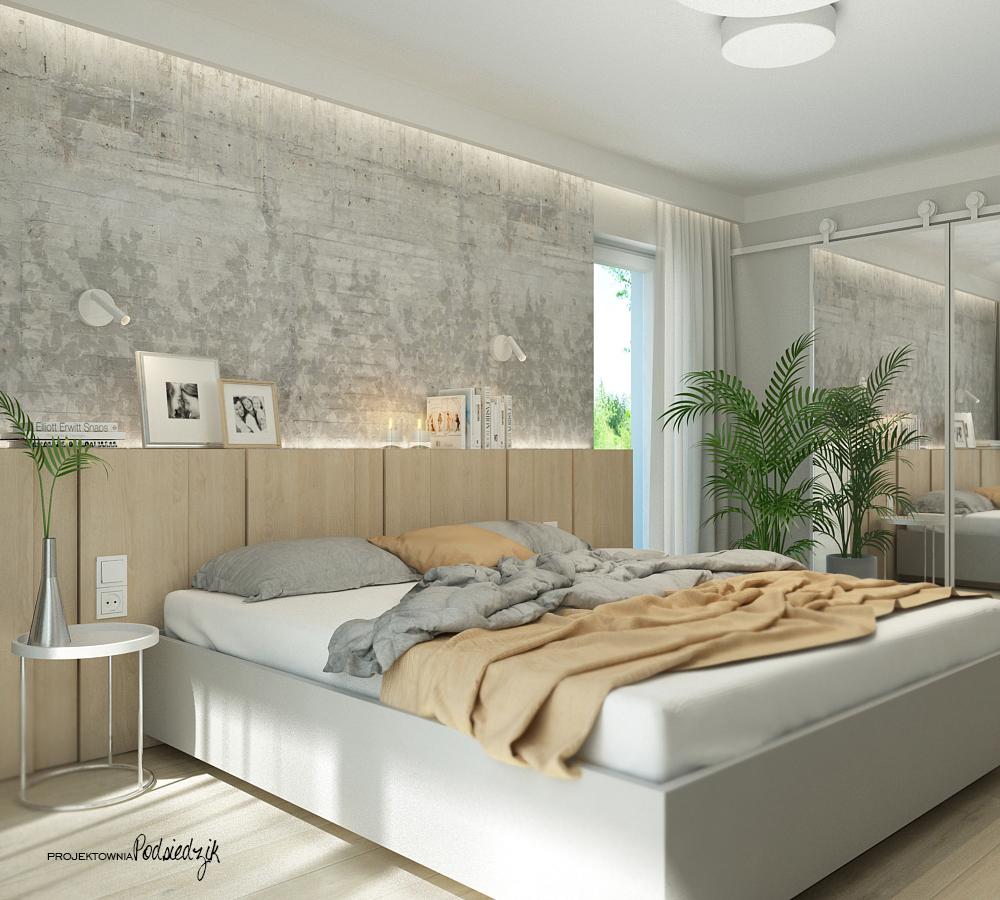Projektownia Podsiedzik projektant wnętrz sypialnia Olesno