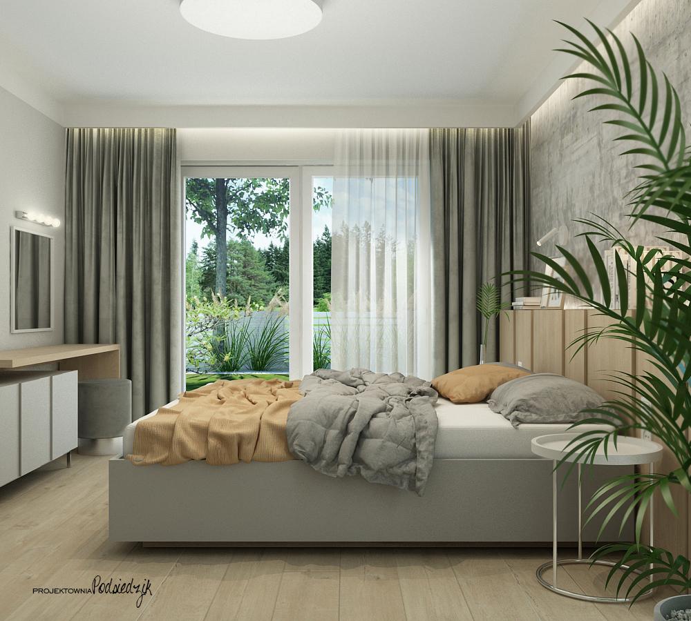 Projektownia Podsiedzik aranżacja wnętrz sypialnia Olesno