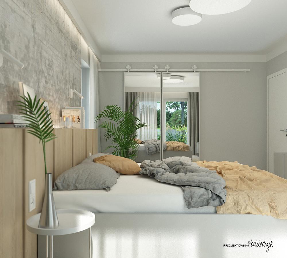 Projektownia Podsiedzik projektowanie wnętrz sypialnia Olesno