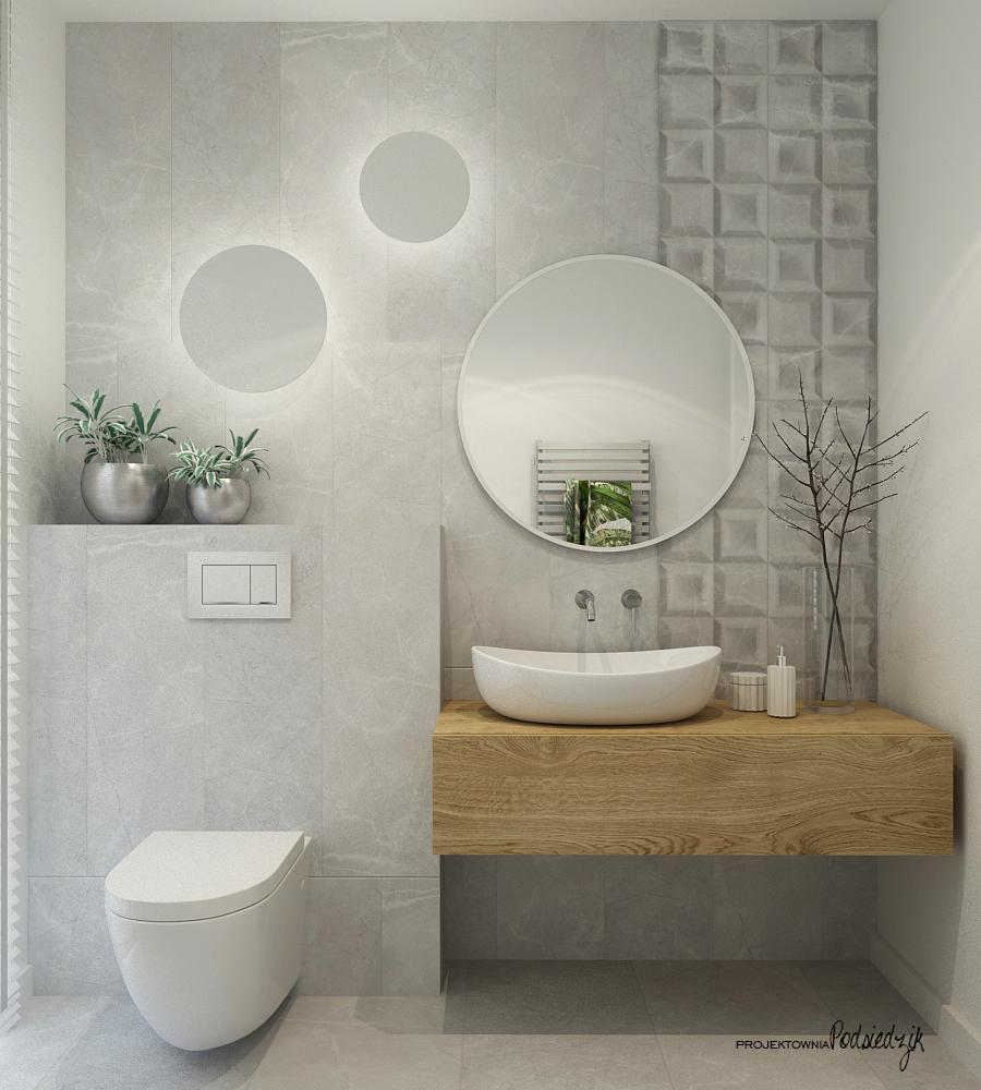 Projektownia Podsiedzik aranżowanie wnętrz toaleta Olesno