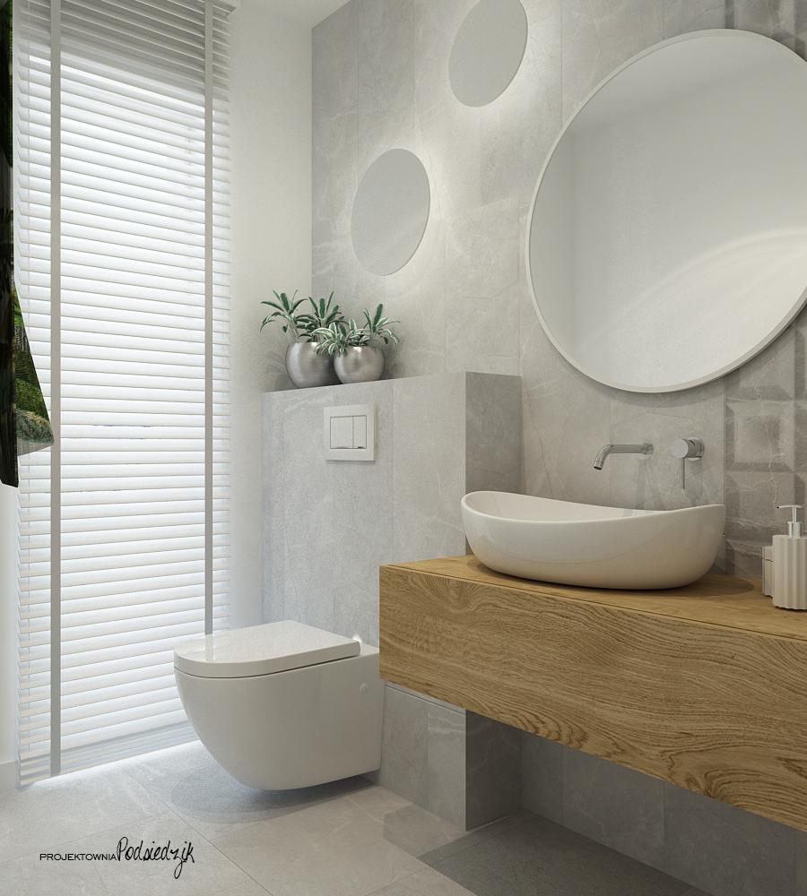 Projektownia Podsiedzik projektant wnętrz toaleta Olesno