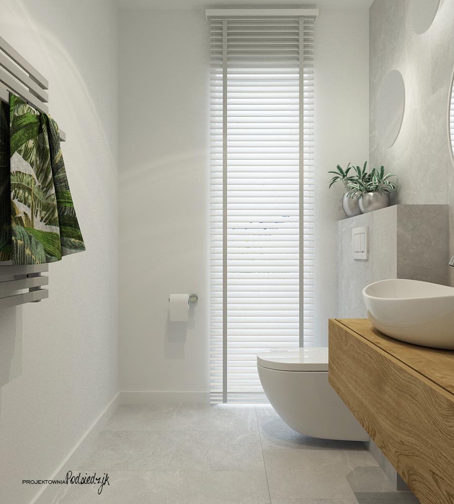 Projektownia Podsiedzik projekty wnętrz toaleta Olesno