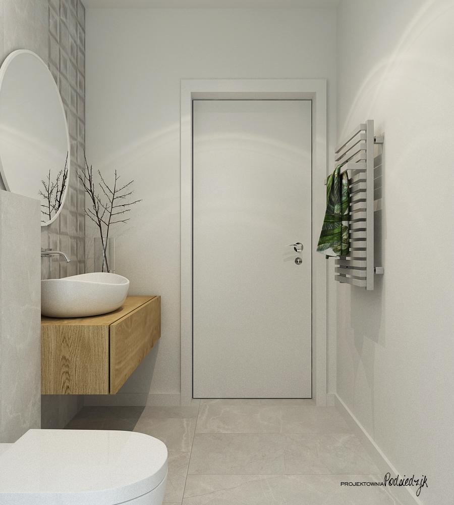 Projektownia Podsiedzik projektowanie wnętrz toaleta Olesno