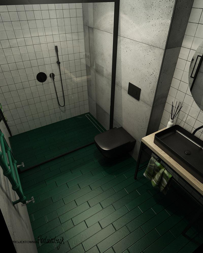 Aranżowanie wnętrz Olesno Kluczbork Opolskie - Aranżacja łazienki w garażu Olesno