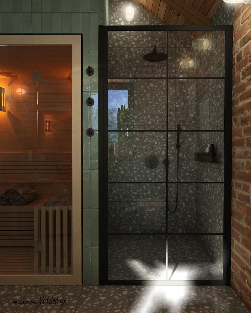 Aranżowanie wnętrz Kluczbork Olesno Opolskie - Aranżacja wnętrza toalety w garażu Olesno