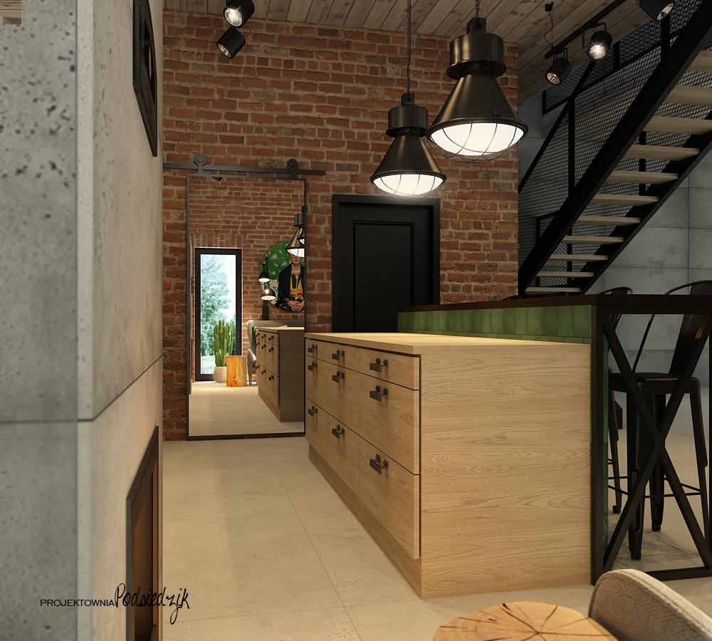 Projekt wnętrza garażu Olesno - projekty wnętrz Kluczbork Olesno Opolskie