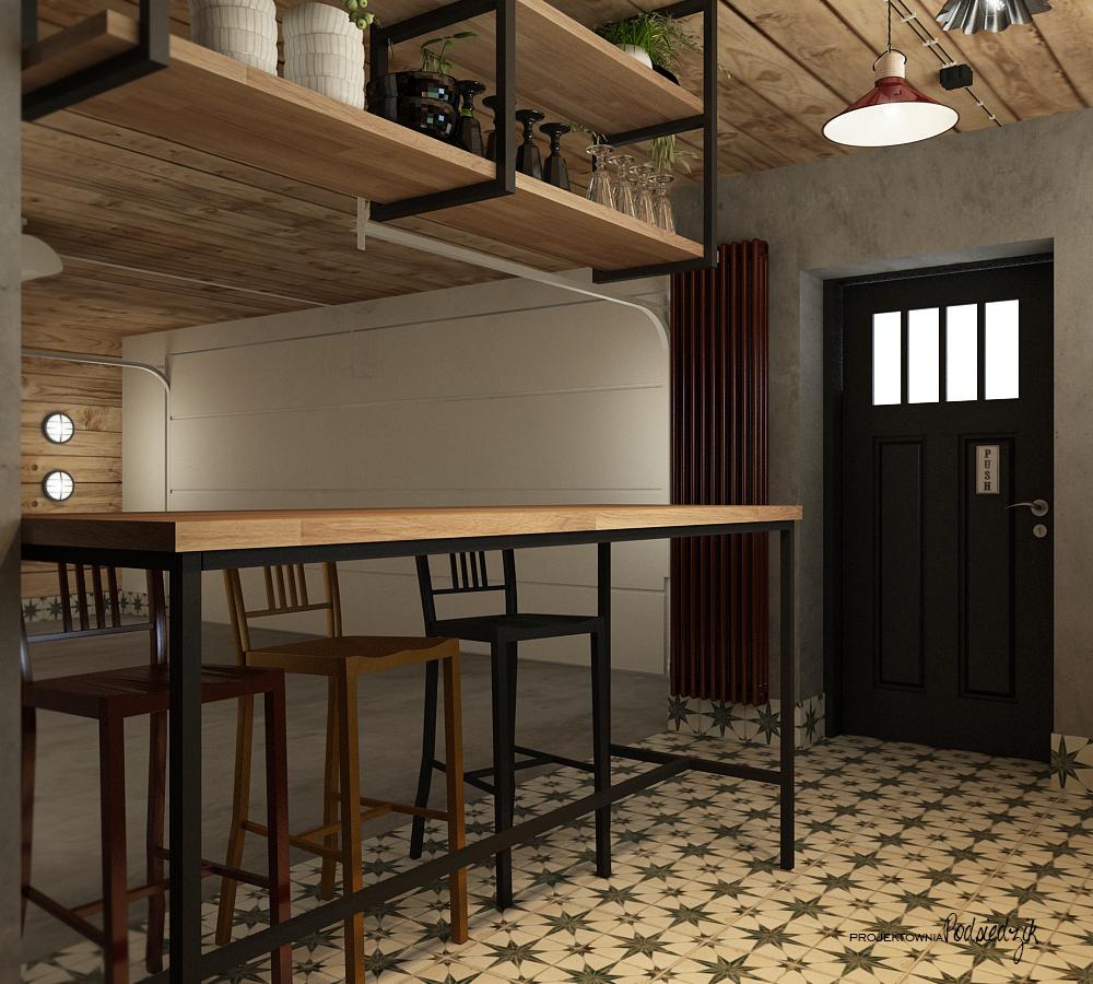 Projekty wnętrz Kluczbork Olesno Opolskie - Projekt wnętrza garażu Olesno