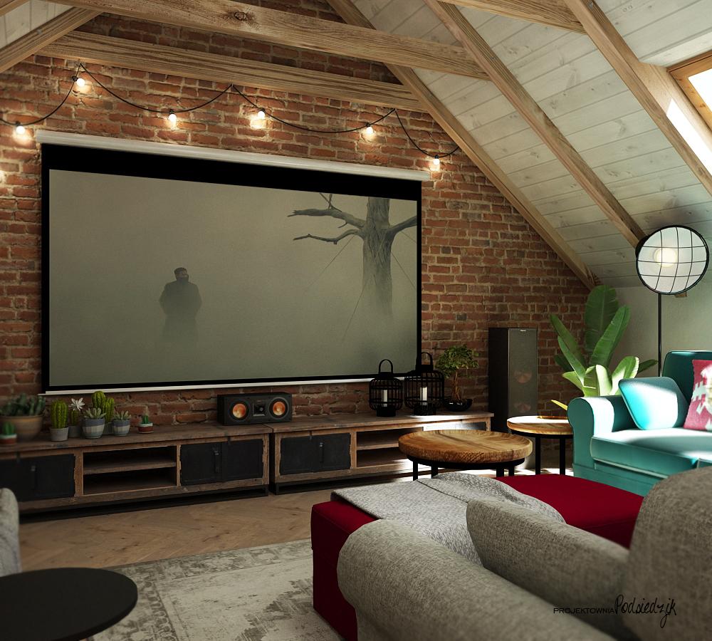 Projekt wnętrza garażu z poddaszem Olesno - Projektowanie wnętrz Kluczbork Olesno Opolskie